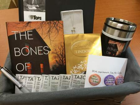 Bones of You giveaway basket